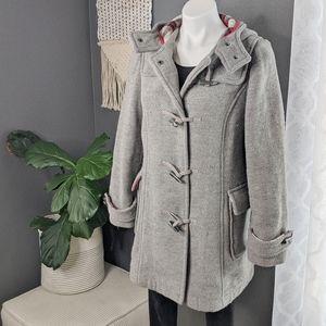 Old Navy Wool Blend Grey Pea Coat